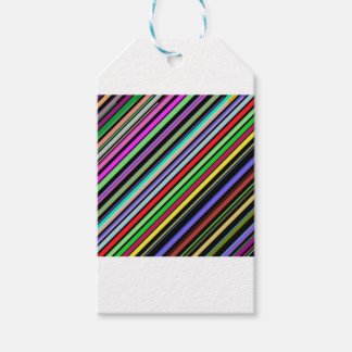 Diagonal Color Stripes Gift Tags
