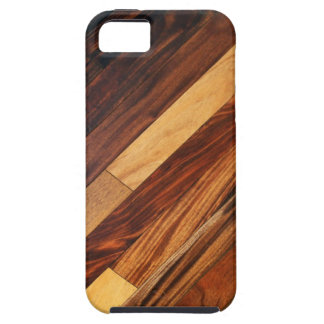 Diagonal Faux Wood Flooring iPhone 5 Covers