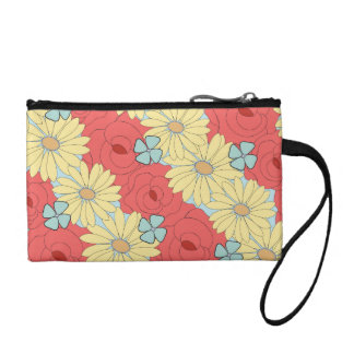 Diagonal Flower Change Purses