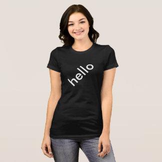 Diagonal Hello Womens Top TookiesTs