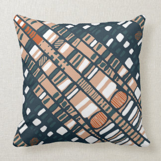 Diagonal layers terracotta cushion