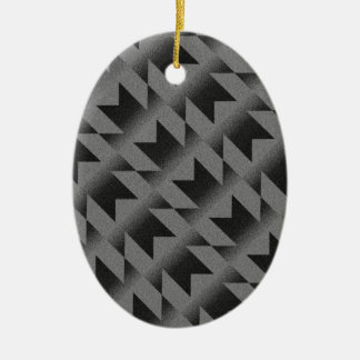 Diagonal M pattern Ceramic Ornament