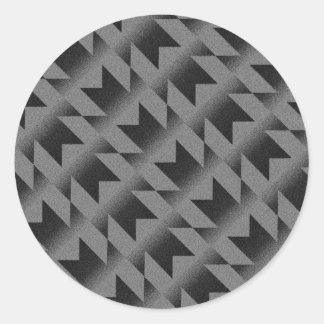 Diagonal M pattern Classic Round Sticker