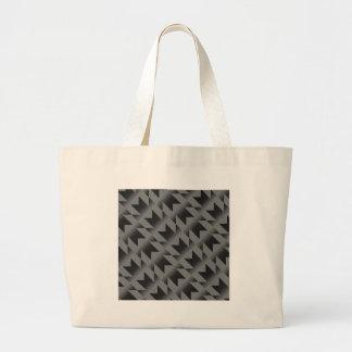 Diagonal M pattern Large Tote Bag