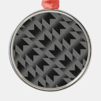 Diagonal M pattern Metal Ornament