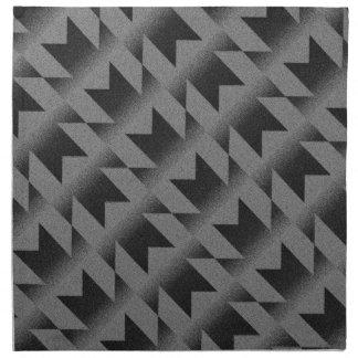 Diagonal M pattern Napkin