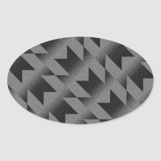 Diagonal M pattern Oval Sticker