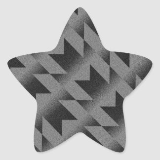 Diagonal M pattern Star Sticker