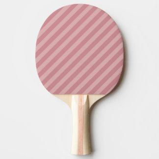 Diagonal Pink Stripes Ping Pong Paddle