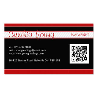 Diagonal Pinstripe - Red Pack Of Standard Business Cards