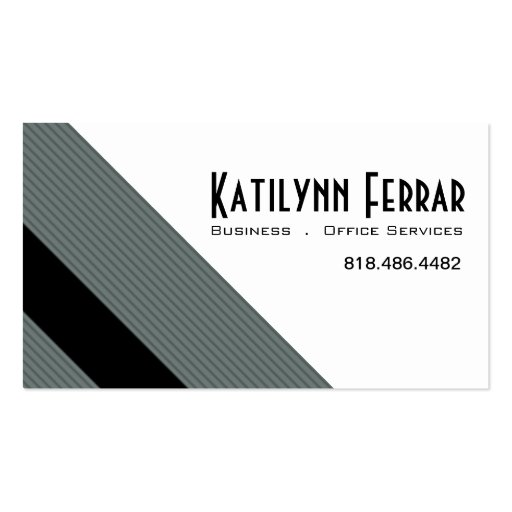 Diagonal Pinstripes Business Office Services Business Cards