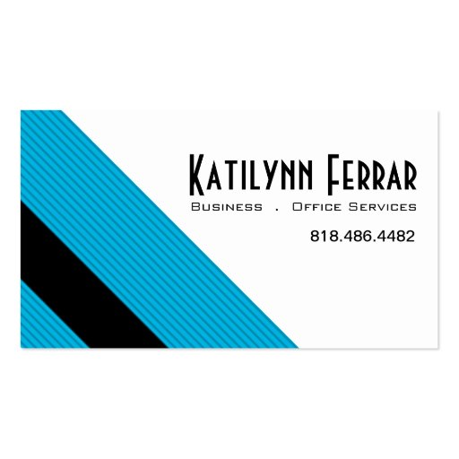 Diagonal Pinstripes Business Office Services Business Card Template