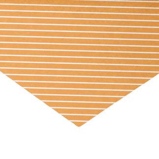 Diagonal pinstripes - orange and white tissue paper