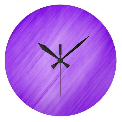 Diagonal Purple Background Wall Clocks