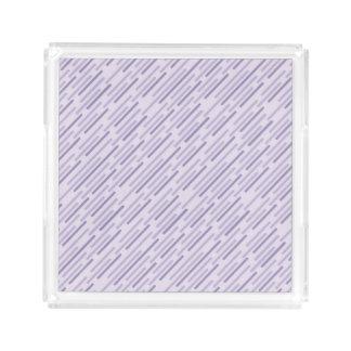 Diagonal purple stripes serving tray
