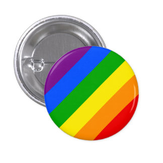 """DIAGONAL RAINBOW"" 1.25-inch 3 Cm Round Badge"