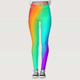 diagonal rainbow legging