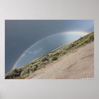 Diagonal Rainbow Poster