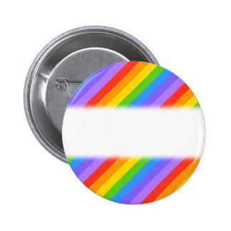 Diagonal Rainbow Stripes Pattern Pins