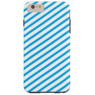 Diagonal Stripe Blue Pattern Tough iPhone 6 Plus Case