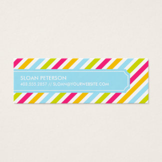 Diagonal Stripe Calling Card