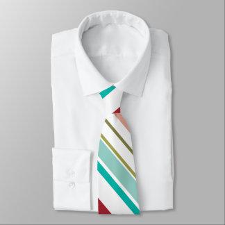 Diagonal stripe pattern tie