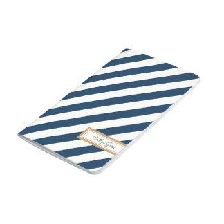 Diagonal Striped Navy Journal