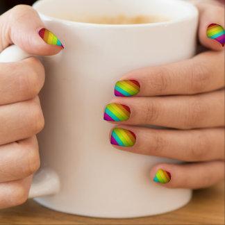 diagonal striped rainbow minx® nail wraps