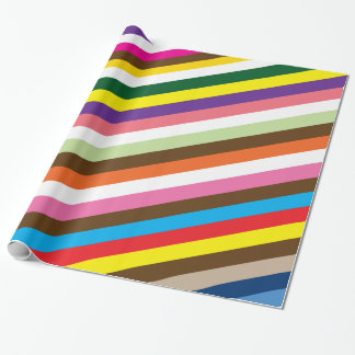 Diagonal striped wrapping paper