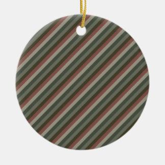Diagonal Stripes 01 Ornament