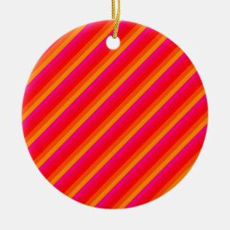 Diagonal Stripes 02 Christmas Ornaments