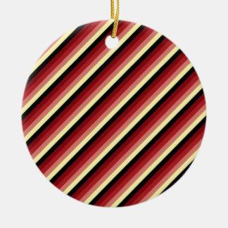 Diagonal Stripes 03 Round Ceramic Decoration
