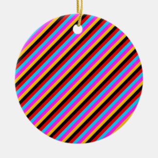 Diagonal Stripes 04 Christmas Tree Ornament