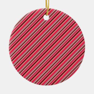 Diagonal Stripes 05 Christmas Ornament