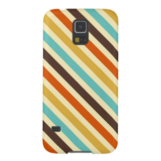 Diagonal Stripes 4 Retro Colors Blue Yellow Red Case For Galaxy S5