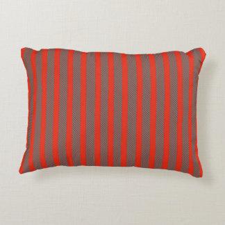 Diagonal stripes accent cushion