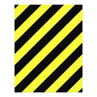 diagonal stripes black and yellow 21.5 cm x 28 cm flyer