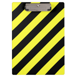 diagonal stripes black and yellow clipboard