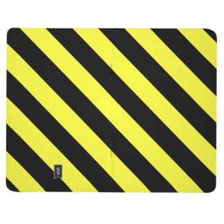 diagonal stripes black and yellow journal