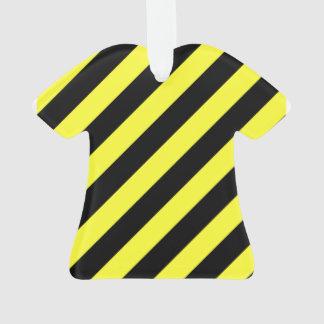 diagonal stripes black and yellow ornament