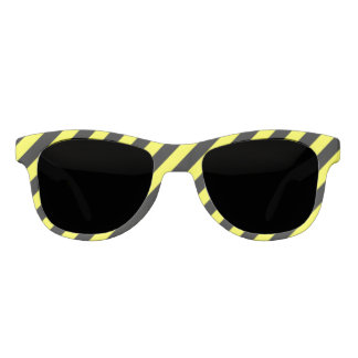 diagonal stripes black and yellow sunglasses