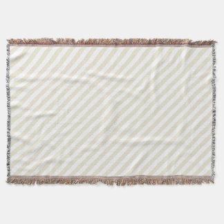 Diagonal Stripes Eggshell Throw Blanket