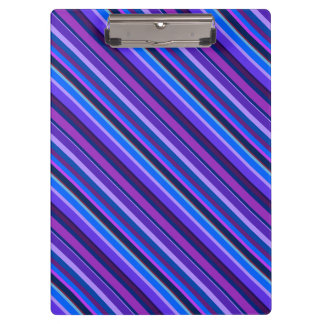 Diagonal stripes in blue and purple clipboard