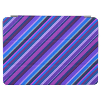 Diagonal stripes in blue and purple iPad air cover