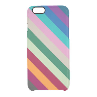 Diagonal Stripes In Fall Colors Clear iPhone 6/6S Case