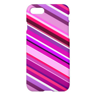 Diagonal Stripes in Pinks, Purples, and White iPhone 8/7 Case