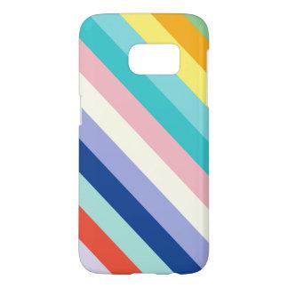 Diagonal Stripes In Spring Colors