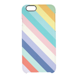 Diagonal Stripes In Spring Colors Clear iPhone 6/6S Case