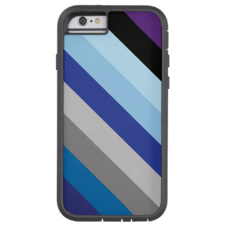 Diagonal Stripes In Winter Colors Tough Xtreme iPhone 6 Case
