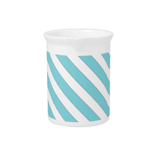 diagonal stripes light blue beverage pitchers